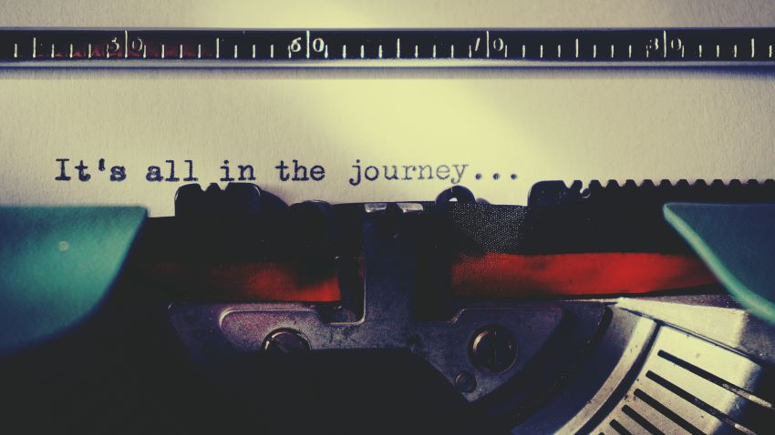 "Typewriter: ""It's all in the journey"""