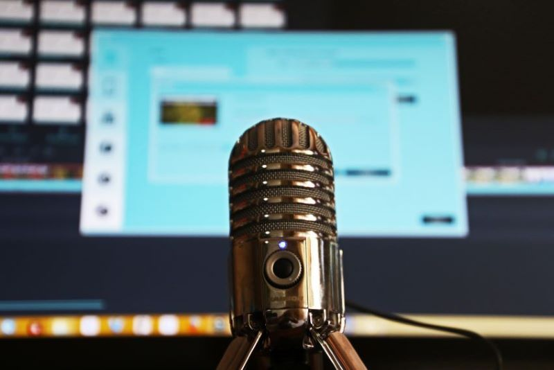 Condenser Microphone used in Financial Podcasts