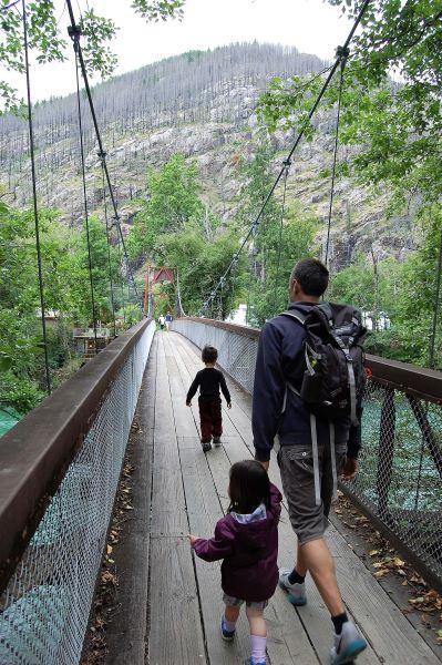 Suspension Bridge in North Cascades National Park