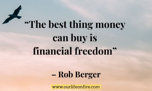 Free bird flying in the sky with Rob Berger Personal Finance Quote