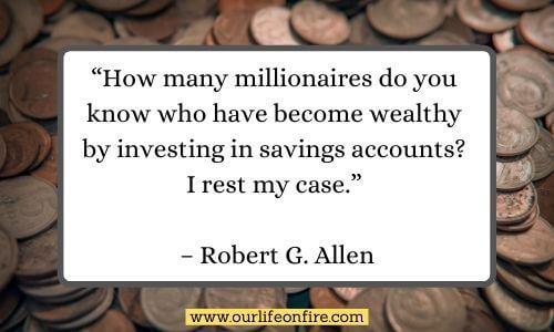 Robert G. Allen Quote with Money in the background