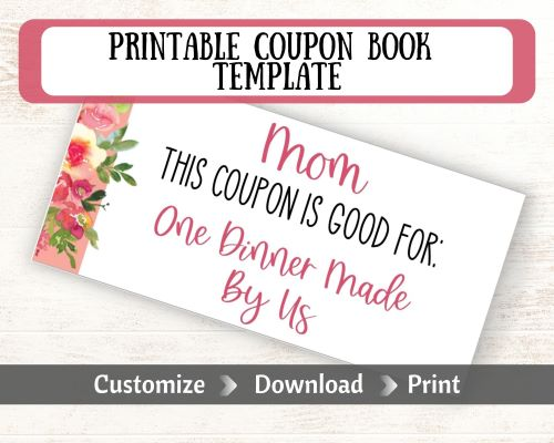 Etsy Ad for a coupon book for mom