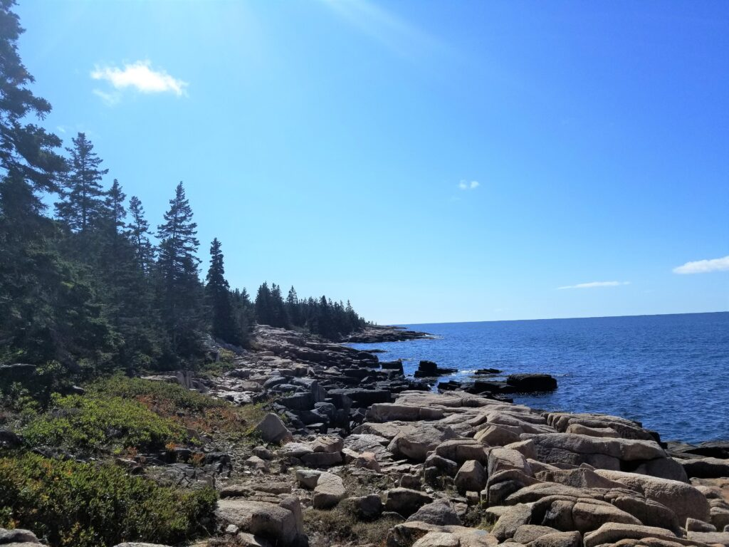 A view of the Ocean in Acadia National Park