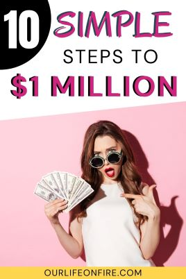 Woman wearing sunglasses has surprised look on her face while holding a lot of money in one hand